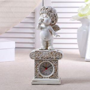 """Часы настольные """"Ангел"""", цвет белый,  h=25.5 см 3940694"""