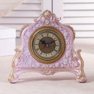 """Часы настольные """"Каминные"""", цвет  розовый, 21х19х6.5 см 3940740"""