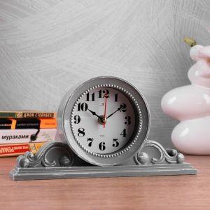 """Часы настольные """"Милица"""" 26х14 см, корпус серый с белым 4833054"""