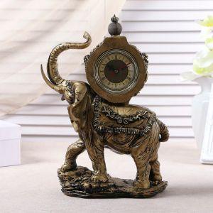 """Часы настольные """"Слон"""", цвет  бронзовый, 35х22х10 см 3940733"""