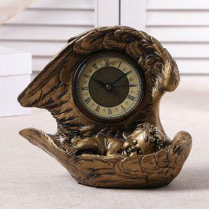 """Часы настольные """"Спящий ангел"""", цвет золото, h=25.5 см 3940697"""