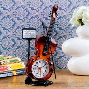 "Будильник ""Скрипка с пюпитром"", 27х10 см, микс 1262034"