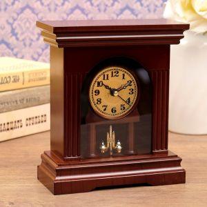 """Часы каминные """"Классические"""", прямоугольные, 18.5х16х7.5 см 3620845"""