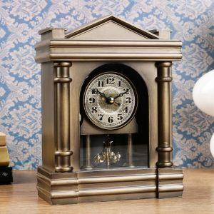 Часы каминные, античные, 19.5х14.5х7 см 3620844
