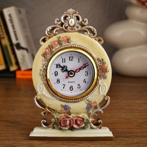 """Часы настольные """"Ажурные розы"""", 16.5х11.5 см 2757025"""