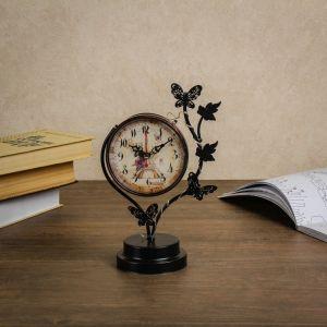 """Часы настольные """"Бабочки"""", с маленькими фонариками, 17х9х25 см 3620938"""
