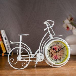"""Часы настольные """"Велосипед ретро"""", белый, 33х24 см 2771556"""