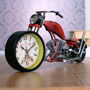 "Часы настольные ""Ретро мотоцикл"", 32х15х10 см, микс  3598528"