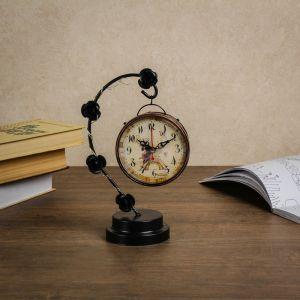 """Часы настольные """"Розочки"""", с маленькими фонариками, 17х9х25 см 3620939"""