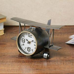 """Часы настольные, серия: Транспорт, """"Самолёт с двойными крыльями"""", 26.5х15х19.5 3620864"""