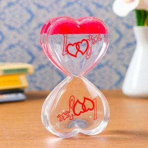 "Гелевые песочные часы ""Сердце"", 13х7.5х2 см  микс  1446277"