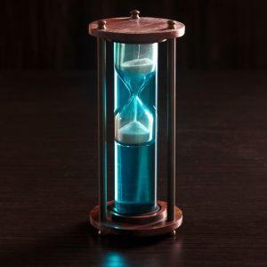 """Песочные часы """"Вираж"""" дерево, алюминий, вода (3 мин) 6,5х6,5х18 см   4205028"""
