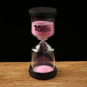 """Часы песочные """"Happy time"""" на 15 минут, 4х11 см, микс 2996836"""