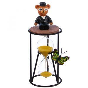 """Часы песочные """"Мишка в костюме"""", 8х19 см, микс 2857891"""