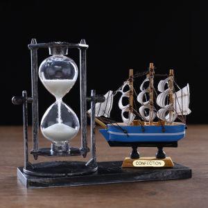 "Часы песочные ""Фрегат"", 15.5х6.5х12.5 см, микс 3488511"