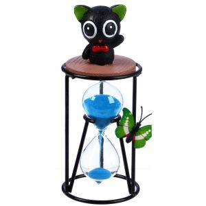 """Часы песочные """"Чёрный котик"""", 8х19 см, микс 2857889"""