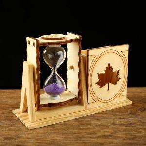 """Часы песочные """"Кленовый лист"""" с карандашницей, 10х13 см, микс 1100488"""