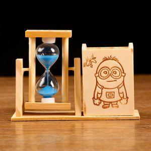"""Часы песочные """"Любовь  рисовать"""" с карандашницей, 13.5х9.5х5 см, микс 1197347"""