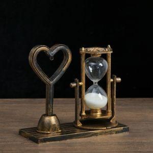"Часы песочные ""Любовь"", 15.5х6.5х16 см  микс 4154489"