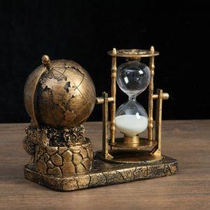 """Часы песочные """"Мир"""" 16х9х14 см, микс 4154485"""