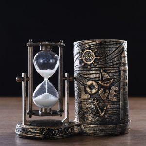 """Часы песочные """"Море - любовь"""" с карандашницей, 16.5х8х13 см   4727121"""