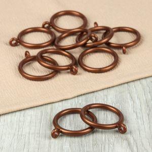Кольцо для карниза, d = 30/39 мм, 10 шт, цвет бронзовый