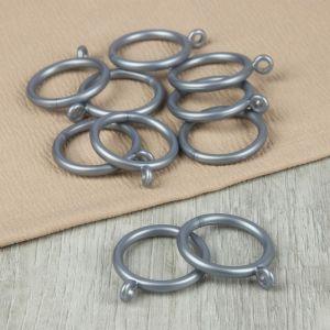 Кольцо для карниза, d = 30/39 мм, 10 шт, цвет серебряный