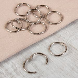 Кольцо для карниза, d = 20/24 мм, 10 шт, цвет серебряный