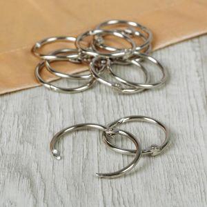 Кольцо для карниза, d = 28/33 мм, 10 шт, цвет серебряный