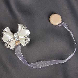 Подхват для штор «Бант», 6 ? 5 см, цвет белый