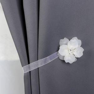Подхват для штор «Нежный цветок», d = 6 см, цвет белый