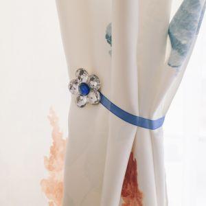 Подхват для штор «Цветок ромашка», d = 6 см, цвет синий