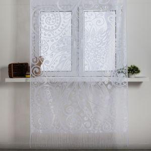 Занавеска для кухни без шторной ленты 230х130 см, пэ 100%   4790264