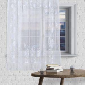 Штора без шторной ленты, ширина 170 см, высота 145 см, цвет белый