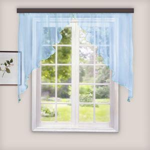 Комплект штор для кухни Дуо 300х140 см, голубой, 100% п/э   3984485
