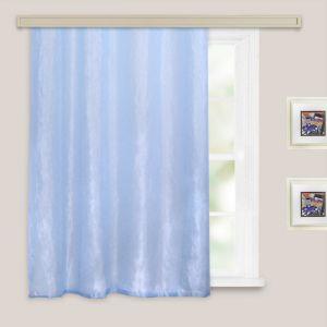 Штора портьерная  для кухни Тергалет 135х180 см, голубой, пэ 100%   4500628