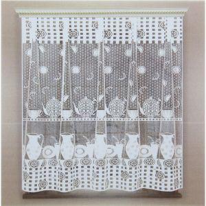 Штора кухонная 170х170 см, белый, 100% п/э, без шторной ленты