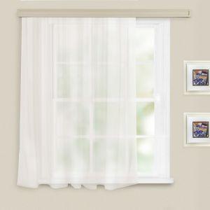 Штора однотонная, размер 140х145 см, цвет белый, вуаль
