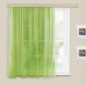 Штора вуаль однотонная 140х145 см, цв. св. зеленый, пэ 100%   3865418