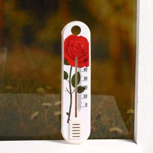 """Пластиковый термометр комнатный """"Цветок"""" в блистере (0 +50), 2545526"""