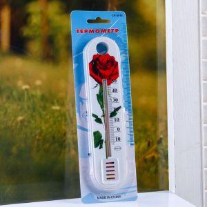 """Пластиковый термометр комнатный """"Цветок"""" в блистере (-10 +50)   4444063"""