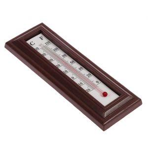 Термометр спиртовой LuazON, комнатный, пластик, коричневый 558416