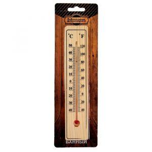 Термометр спиртовой, деревянный, 50 С   2952476
