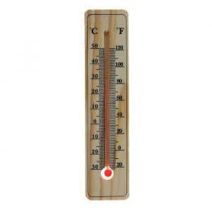 Термометр спиртовой, уличный LuazON, 15 ? 3.5 см, дерево 1196314