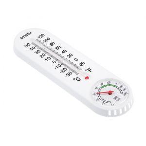 Термометр уличный  с гигрометром, 22,5*6,5 см, пластик белый 1430096