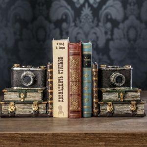 """Держатели для книг """"Фотоаппарат"""" набор 2 штуки 15х15х9,5 см   3472988"""