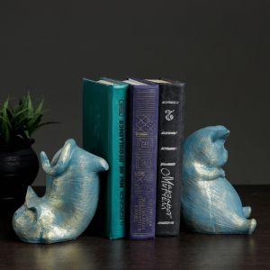 """Держатель для книг """"Два кота"""" набор, 15см   4074889"""