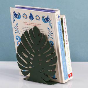 Держатель для книг металлический «Лист монстеры» 3982140