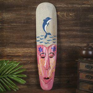 """Настенная маска """"Дельфин"""" дерево,песок  2,5х11х50 см   4165829"""