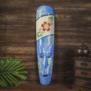 """Настенная маска """"Цветок"""" дерево,песок  2,5х11х50 см   4165827"""